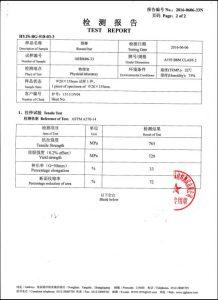 A193 B8M CL2 için sertifika