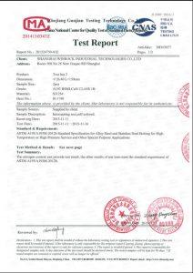 S31254 için sertifika