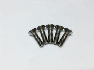 M3, M6 titanyum vida düz kafa soket başlı kapak spinal cerrahi için titanyum flanş vidaları
