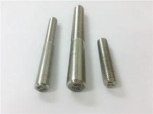 No. 101-317L yuvarlak çubuk, dişli bağlantı elemanı