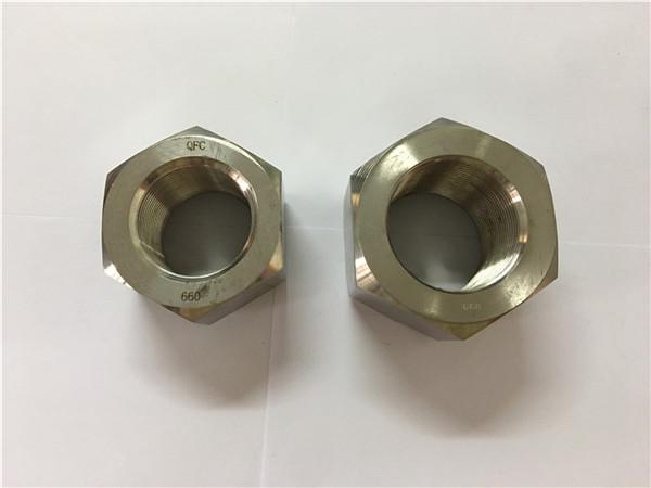 nikel alaşımı üretimi a453 660 1.4980 altıgen somun