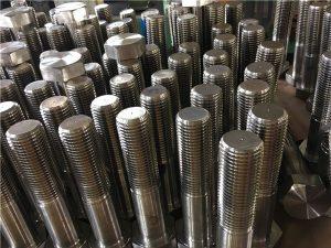 12-hex cıvataları ISO4014 yarım diş A193 B8, B8M, B8T, B8C SS bağlantı elemanı
