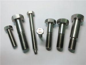 No.25-Incoloy a286 altıgen cıvata 1.4980 a286 bağlantı elemanları gh2132 paslanmaz çelik donanım makine vida tertibatları