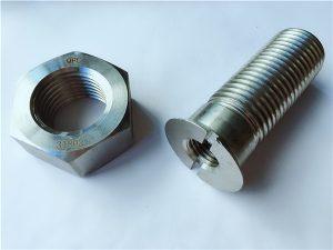 No.55-Yüksek kaliteli dubleks 2205 paslanmaz çelik cıvata ve somun