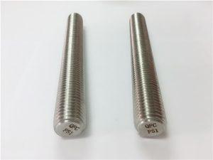 No.77 Dubleks 2205 S32205 paslanmaz çelik bağlantı elemanları DIN975 DIN976 dişli çubuklar F51