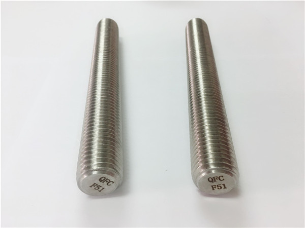 Duplex2205 / s32205 paslanmaz çelik bağlantı elemanları din975 / din976 dişli çubuklar f51
