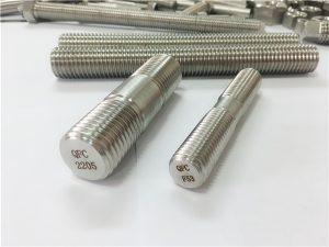 No.80-duplex 2205 S32205 2507 S32750 1.4410 yüksek kaliteli donanım raptiye ahşap dişli çubuk çapa