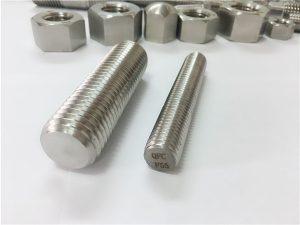 No.81-F55 Zeron100 paslanmaz çelik bağlantı elemanları tam dişli çubuk S32760