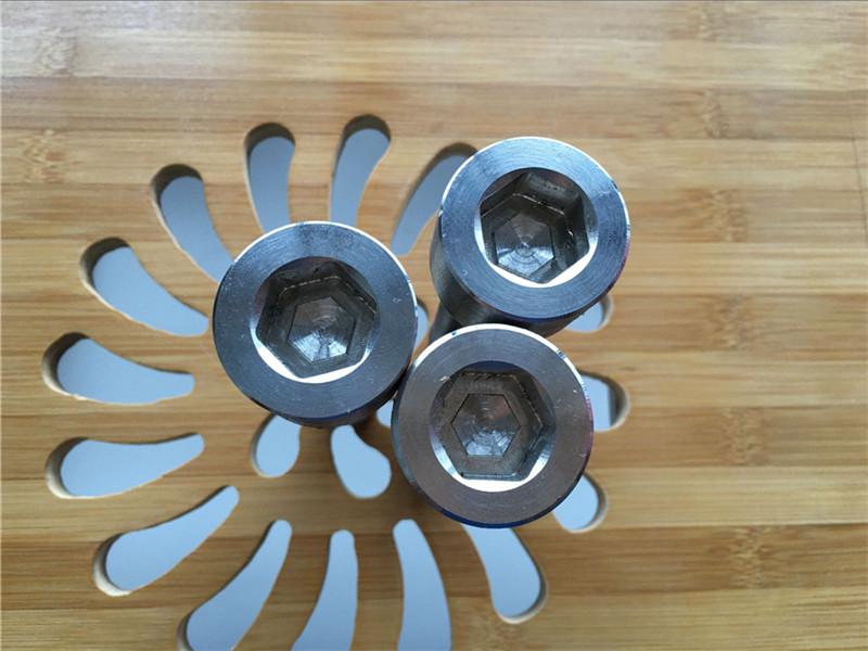Yüksek kaliteli ASEM hex soket titanyum gr2 vida / cıvata / somun / yıkayıcı /