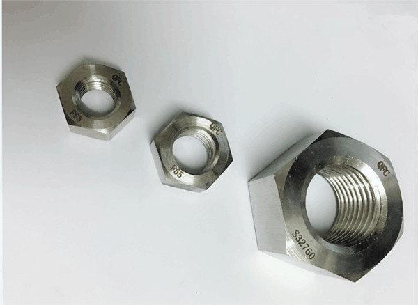 Dubleks 2205 / f55 / 1.4501 / s32760 paslanmaz çelik bağlantı elemanları ağır altıgen somun m20